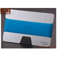 China promotion wood slim wallet money clip with credit Ebony  card holder on sale