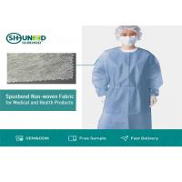 Non Toxic Medical Breathable Non Woven Fabric Disposable Surgical Gown Fabrics Manufactures