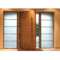Solid Wood Modern Pivot Front Doors Manufactures