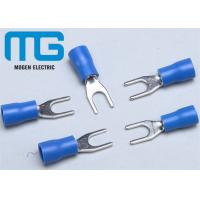 SV 1.25-4 Copper Spade Terminal Connectors Fork Shaped Cable End Terminals Manufactures