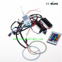 Car RGB Halo Ring Flashing 90mm/140mm Multi-Color LED Angel Eyes With Remote Control Manufactures