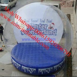Quality inflatable snow globe giant snow globe plastic snow globe giant inflatable snow for sale