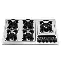 Kitchen Prushed Stainless Steel Oven And Hob 5 Burner 86cm 860*510mm Manufactures