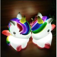 Light Up Unicorn 7 LED Colors Change Shine Night Light Novelty Toy For Kids Flashing My Little Pony Manufactures