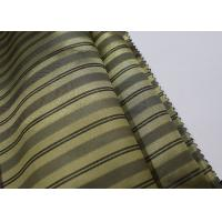 China Satin Lining Fabric Stripe Style Soft Furnishing High Standard Tear Strength on sale