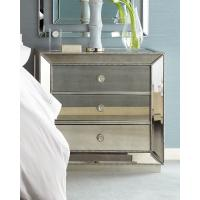 5 Star Hotel Mirrored Night Stand Bed Side Table with Wooden Beads Decorate Manufactures
