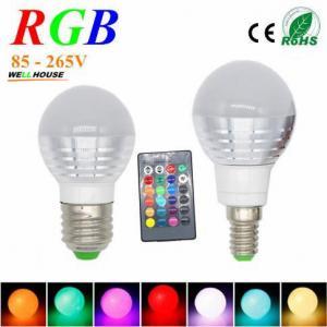 3W RGB Lampada LED Bulb E27 85-265V RGB LED Lamp E27 220V 110V Spotlight Lamparas LED Light Bulb E14 Spot Luz Christmas Manufactures