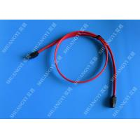 Red 18 Inch Custom SATA Data Cables SATA III 6.0 Gbps For Blue Ray DVD CD Drives Manufactures