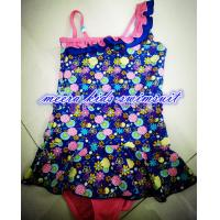 Nice colorful flower one piece swimwear bikini for kids Small size swimsuit Manufactures