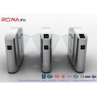 Flap Barrier Gate Flap Wing Automatic Systems Turnstiles Polishing With Anti - Reversing Passing Manufactures