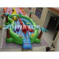 Giant commercial Inflatable Fun City Jungle , cartoon inflatable play park For Kids Manufactures