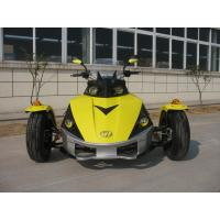 ATV 250CC Tricycle Motorcycle Yellow Racing With Single Cylinder Manufactures