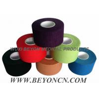 Cotton Adhesive Rigid Black Sports Tape Athletic Trainer's Tape For Joint Protection Manufactures
