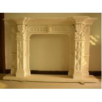 Castle decoration large style beige imitation stone fireplace Manufactures