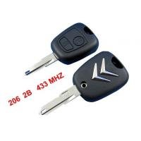 Citroen C2 Remote Key 433MHZ, 2 Button Citroen Auto Remote Key Blanks Manufactures