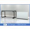 Matte White Handbag Display Fixtures Pre - Assembly Structure Superb Craftsmanship Manufactures