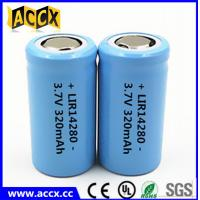 Quality 14280 li-ion small battery 3.7V 340mAh rechargebale 1-3C discharge lir14280 lithium ion battery for sale