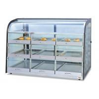 Quality Table Top Glass Food Warmer Showcase Drawer-Type 3-Layer 9-Pans Bread Display for sale