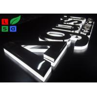 Quality Half Lit LED Channel Letter Signs 2835 SMD LED Source With Polished Stainless for sale