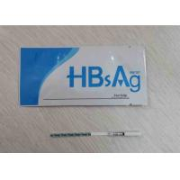 Quality High Accuracy Medical One Step Rapid Test Kits Hbsag / Hbsab Cassette / Strip for sale
