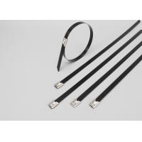 201 304 316 PVC coated Stainless steel cable ties-ball self locking Manufactures