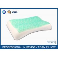 Quality High Density Soft Sleep Memory Foam Cooling Gel Pillow With White Washable Cover for sale