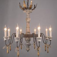 Wood and wrought iron chandelier wood ceiling lamp (WH-CI-58) Manufactures