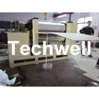0.5 - 12m/min Embossing Speed Plywood Panel Embossing Machine With Frequency Control Manufactures