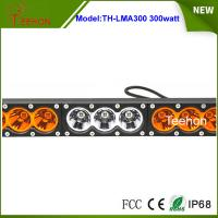Super bright 300w dual color single row offroad led bar in thick diecast