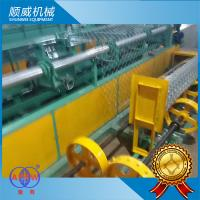 4m Width Chain Link Fence Making Machine , wire mesh making machine Manufactures