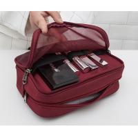 China PVC Material  Portable Waterproof Cosmetic Bag Zippered Closure Type on sale