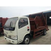 Dongfeng 4*2 4CBM swing arm skip loader garbage truck for sale, factory sale best price hook lift garbage truck Manufactures