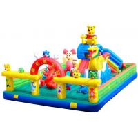 Kids Giant Inflatable Toys Inflatable Fun City / Inflatable Bouncy Castle With Slide Manufactures