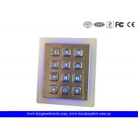 Quality IP65 Rated Stainless Steel Keypad 3x4 Keypad for Access Control System for sale