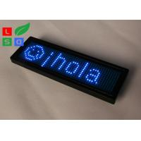Rechargable Blue Red Programmable Scrolling LED Sign USB Micro In Worldwide Languages Manufactures