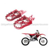 Honda Aluminum Alloy Wide Dirt Bike Foot Pegs With Stainless Steel Sharp Teeth Manufactures