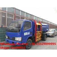 Quality customized CLW 4*2 LHD side garbage bin lifter truck for sale, HOT SALE! lowest for sale