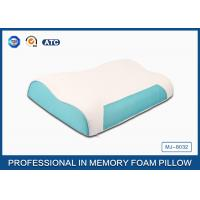 Quality Wave Memory Foam Contour Pillow , Orthopedic Sleeping Pillow With Zipper Cover for sale