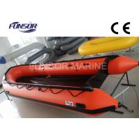 Heavy Duty Large Foldable Inflatable Boat 10 Person With 5 Chambers Orange color Manufactures