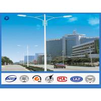 Hot Dip Galvanized Utility Street Lighting pole / Post SS400 Steel Material Manufactures