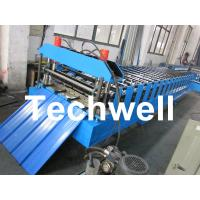 Metal Roofing Sheet Cold Roll Forming Machine with Hydraulic Post Cutting Manufactures