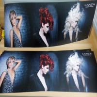 super cool custom hair salon glow el poster, animation advertising panel Manufactures