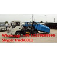 dongfeng brand 4*2 LHD mini hydraulic arm trash truck for sale, hot sale factory price forlandhook lift garbage truck Manufactures