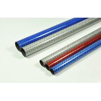 High glossy quality of colored 3K carbon fiber tube Manufactures