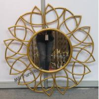 Bathroom Metal Mirror Wall Decor Gold Iron Frame Powder Coating Gold Iron Frame Manufactures