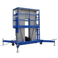 Quality Platform Height Max 10m Double Mast Aluminum Vertical Lift Loading Capacity 200kg with Extension Platform for sale
