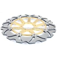 Quality Strong Sunstar Motorcycle Brake Rotors Light Weight With Outside Diameter 296mm for sale