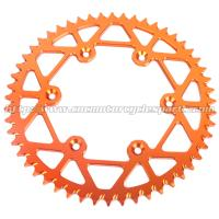 Aluminum Dirt Bike Rear Chain Sprocket / CNC Milling Dirt Bike Chains And Sprockets Manufactures