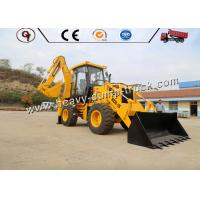 WZ30-25 Yellow Small Backhoe Loader With Front Loader And Back Excavator Manufactures