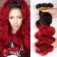 China 3 Bundles Weave Ombre Real Hair Extensions Remy Hair Last Long Time For Girl on sale